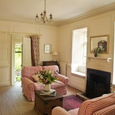 Garden Wing sitting room with door to the walled garden